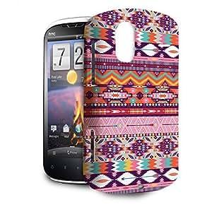 Phone Case For HTC Amaze 4G - Candy Rainbow Aztec Tribal Geometric Premium Wrap-Around