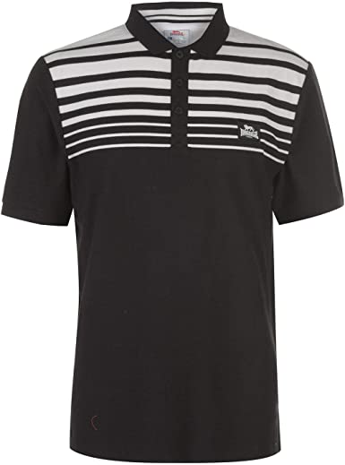 Lonsdale Hombre Yarn Dye Stripe Camiseta Polo: Amazon.es ...