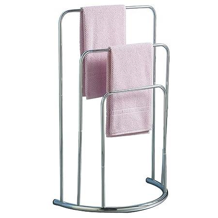 floor towel stand. Home DiscountTowel Stand 3 Tier Bathroom Rack Free Floor Standing Towel Holder Curved, In Chrome