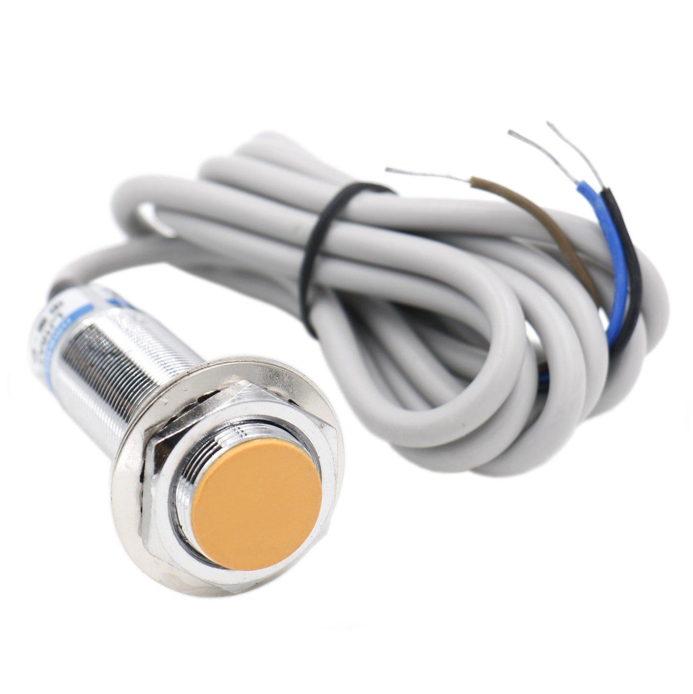 Heschen interruttore del sensore di prossimità induttivo LJ18A3–5-z/rilevatore di 5mm 6–36VDC 300mA PNP normalmente aperto (no) 3fili Heschen Electric Co.Ltd HS-LJ18A3-5-Z/BY