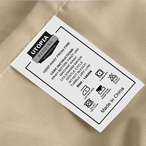 Utopia Bedding light cleaned Microfiber layer Pillowcase Sets