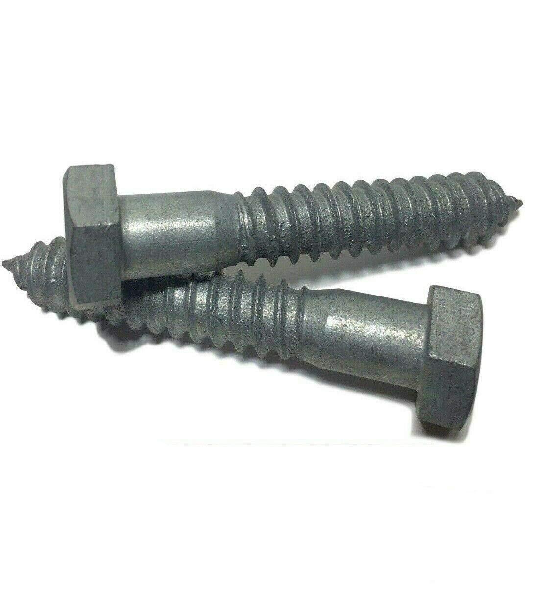 Lag Screws 1//2 x 3 Hex Head Lag Screw//Bolt Hot Dipped Galvanized HDG 25 Pcs Quality Metal Fast