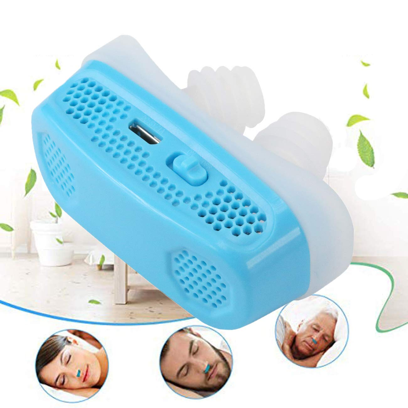 2 in 1 Electronic Anti Snoring Devices,Air Purifier[2019 Upgraded ]Natural Solution to Prevent Snoring and Purify Breath air PM2.5 Filter for Ease Breathing Comfortable Sleeping