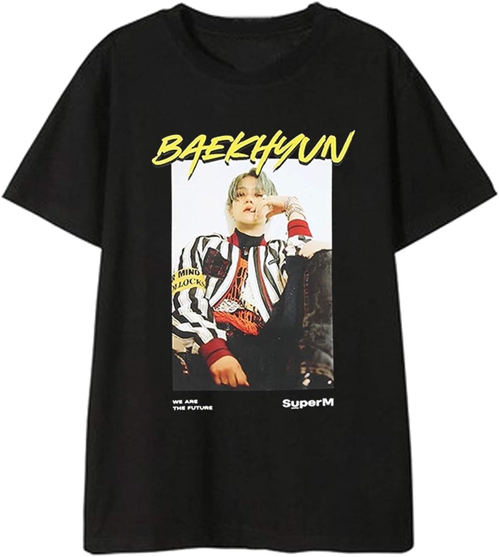 Xkpopfans Kpop SuperM T-Shirt Mini Album SuperM Tshirts Mark Kai Ten Taemin Baekhyun Tee Shirt