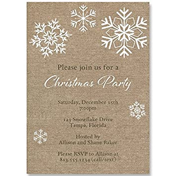amazon com burlap christmas party invitations holiday celebration
