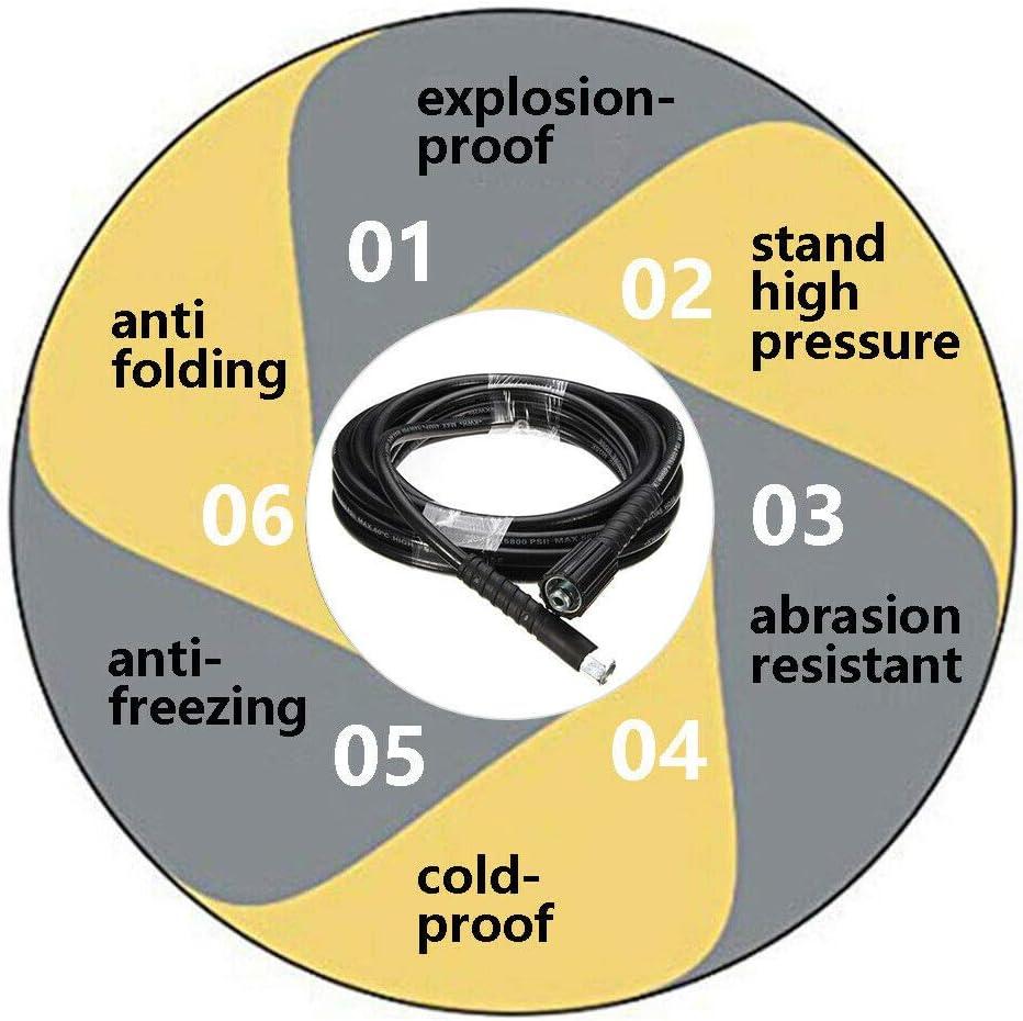 Pour Kar-cher K2 K3 Usage quotidien 10 m//6 m 5800 PSI Tuyau de nettoyeur haute pression DishyKooker M14 x M22