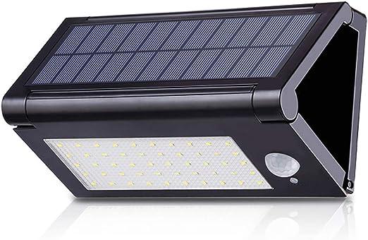 Foco Solar Exterior,Aplique de inducción del cuerpo humano,Luces Solares Jardín IP65 Impermeable Luces de Seguridad al Aire LED,para Jardín, Patio, Garaje, Camino: Amazon.es: Iluminación