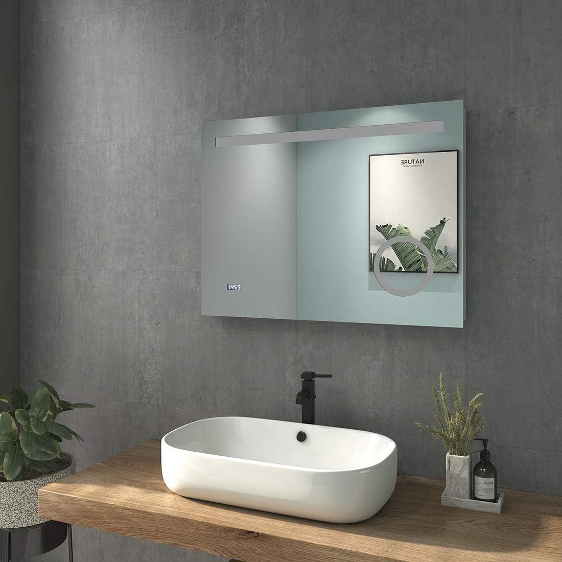 Bathroom Mirror with Lighting Wall Mirror LED Light Mirror IP44 Energy Class A++