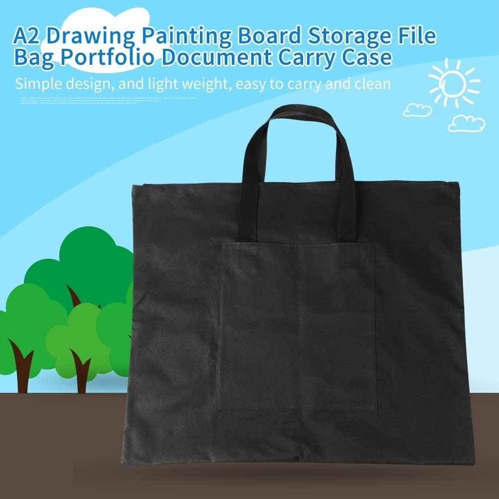 Drawing Painting Board Storage File Bag,Canvas Light Weight Art Portfolio Bag Waterproof Painting Board Bag A2 for Drawing Sketching Painting Art Case Travel Art Supplies Tote Bag