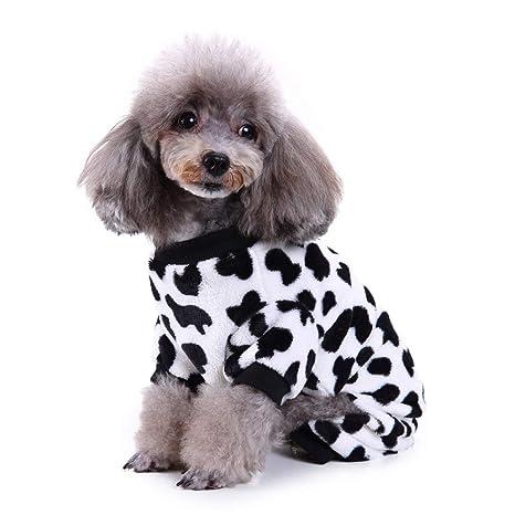 GEZICHTA Pajamas por Perro Gato con Adorable diseño de Lazos de Leche y diseño de Cuatro