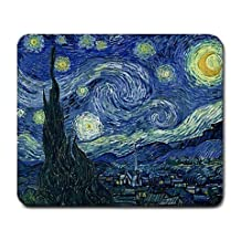 Mouse pad,Veogo No Slip Non-Slip Rubber Base Art Printed Pattern Computer Mouse Mat with Smooth Silk Surface(Starry Sky)