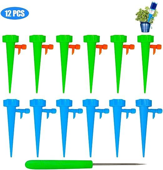 Faviye - Juego de 12 riego por Goteo automático, Sistema de riego para jardín: Amazon.es: Jardín