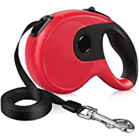 XMXWEI Retractable Dog Leash, 16FT Super Strong Leash, Comfort Durable Grip and One Button Break & Lock, Large/26 Dogs up to 110 lbs - Red