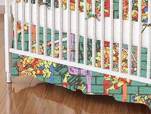 SheetWorld MINI Crib Skirt (24 x 39) - Ninja Turtles Powe...