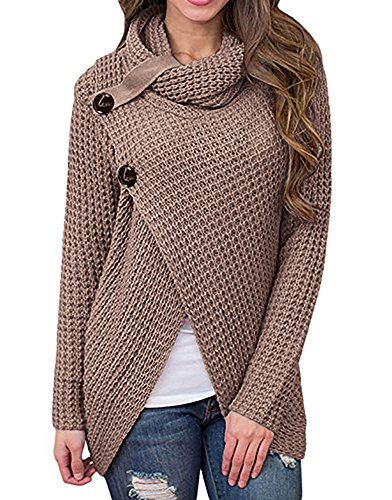 Maternity Pullovers Women's Casual Pregnant O-Neck Cotton Nursing Up Long Sleeve Knit Sweaters