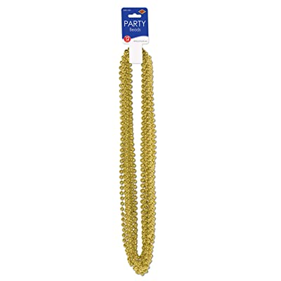 Party Beads - Small Round (gold) (12/Card): Kitchen & Dining