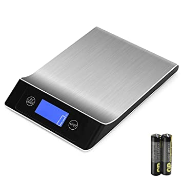 OTraki Báscula Cocina Digital Precisión 1g-15kg, Balanza Electrónica de Cocina, Escala de
