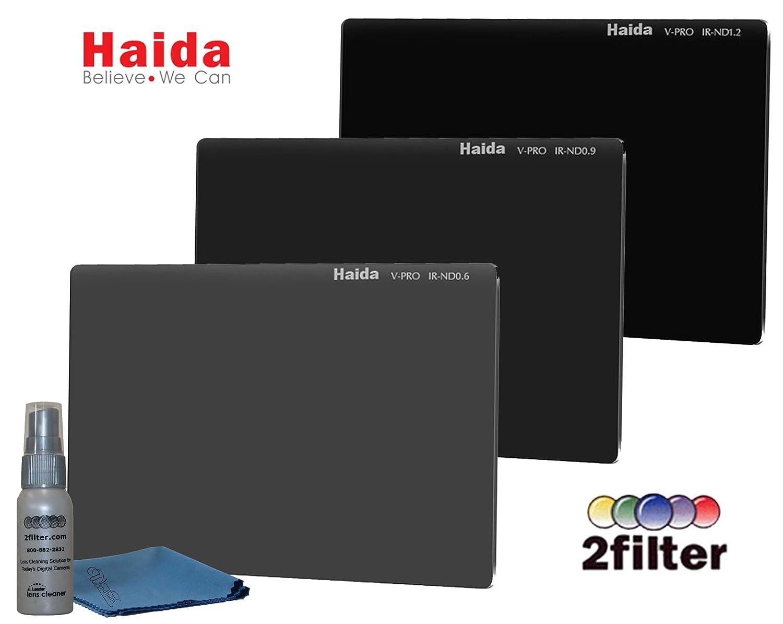 Haida v-proシリーズ4 x 5.65インチビデオPro ir-nd 4 mmニュートラル密度3フィルタCinemaキットIRND 0.6 , 0.9 , 1.2   B07BYV6W3J