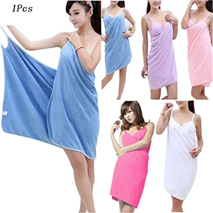 d29cac2cd6 Amazon.com: Meihuida Ladies Wearable Microfiber Bath Towel Women ...
