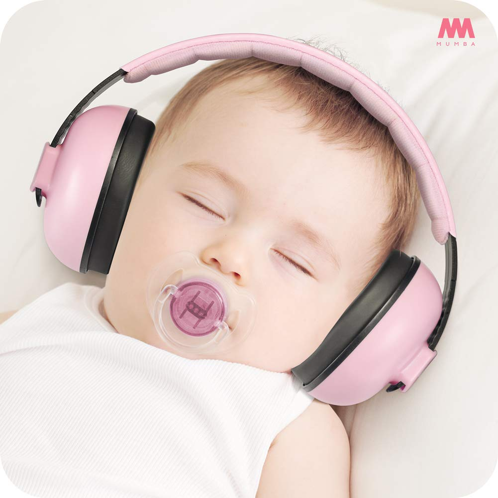 Baby Ear Protection Noise Cancelling Headphones for Babies and Toddlers - Mumba Baby Earmuffs - Ages 3-24+ Months - for Sleeping, Studying, Airplane, Concerts, Movie, Theater, Fireworks by Mumba