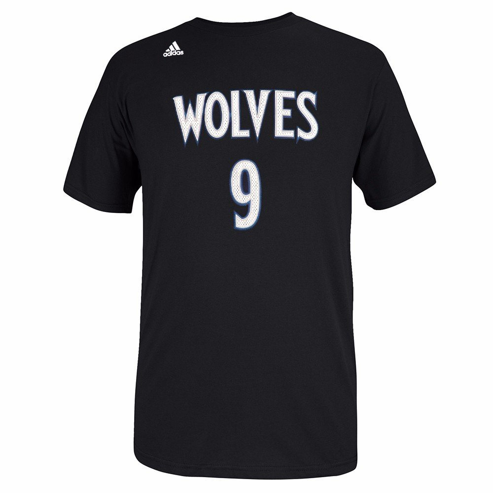 Amazon.com   adidas Ricky Rubio Minnesota Timberwolves NBA Men Black  Official Player Name   Number Jersey T-Shirt   Sports   Outdoors 5b506afd1