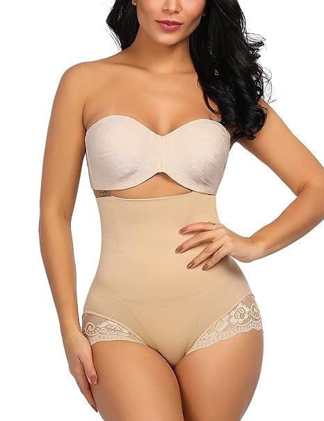c5f0db81d18 Slimming Shapewear Seamless Butt Lifter Tummy Control Panty High Waist Butt  Enhancer Underwear Beige M