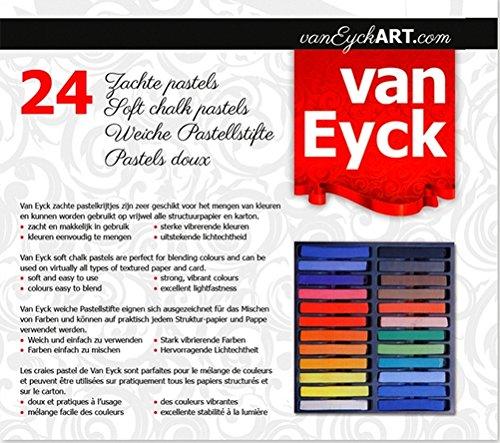 Pastelli morbidi 24 colori intensi e puri 300 gr Van Eyck