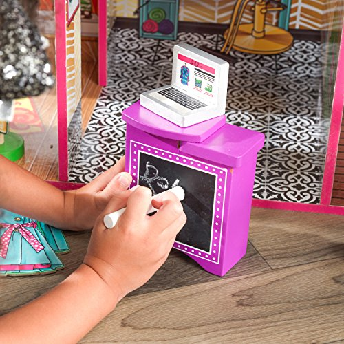 61SHcAgreOL - KidKraft So Chic Dollhouse with Furniture