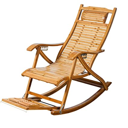 Sillones reclinables Bamboo Mecedora Old Man Siesta Chair ...