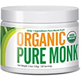 Organic Pure Monk ( Monk Fruit Extract) 100 Servings 3.5 oz Paleo Sugar Free Sweetener