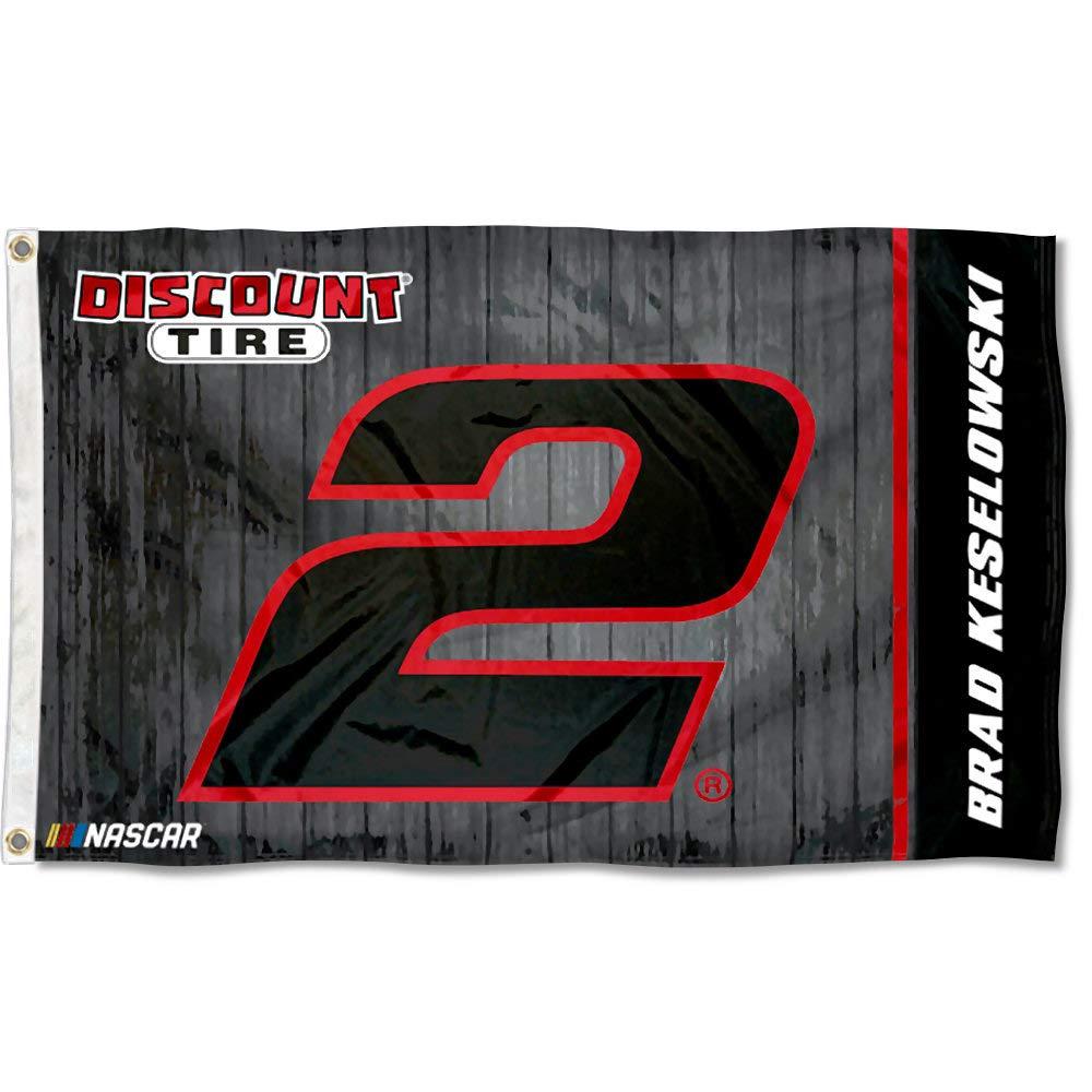 Brad Keselowski #2 2018 NUMBER 3x5 Flag w//grommets Outdoor House Banner Nascar Racing