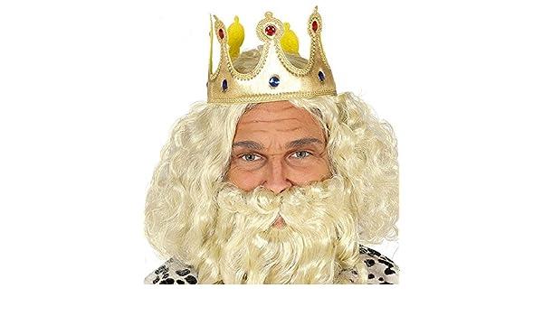 shoperama Corona de Oro de plástico König Reina Príncipe Princesa Regent Piedras Preciosas Joyas Azul Rojo Accesorios Royal Majestad: Amazon.es: Juguetes y juegos
