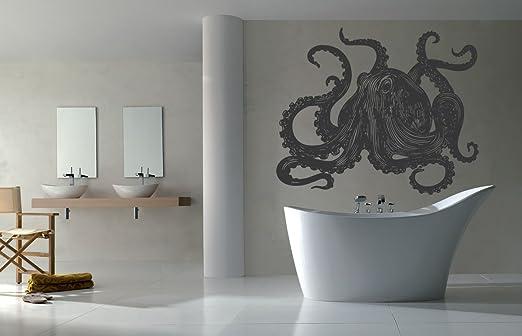 ik1218 Wall Decal Sticker white shark sea predator fish bathroom