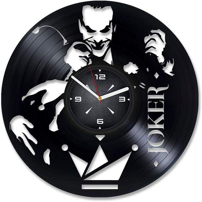Joker Harley Quinn Vinyl Record Wall Clock. Decor for Bedroom, Living Room, Kids Room. Gift for Men or Women. Christmas, Birthday, Holiday, Housewarming Present.