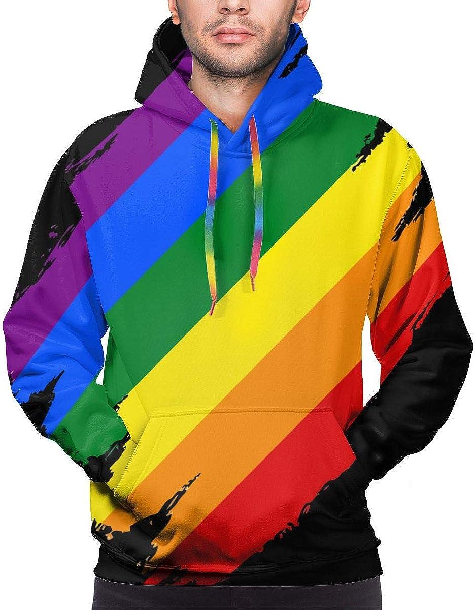 Magic Jame 3D Printing Hoodies Mens Sweatshirts Long Sleeve Sweater LGBT Gay Pride Flag