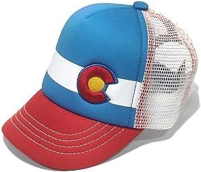 154a8b80 YoColorado Lil Nugget Baby Kids Trucker HAT RED Blue