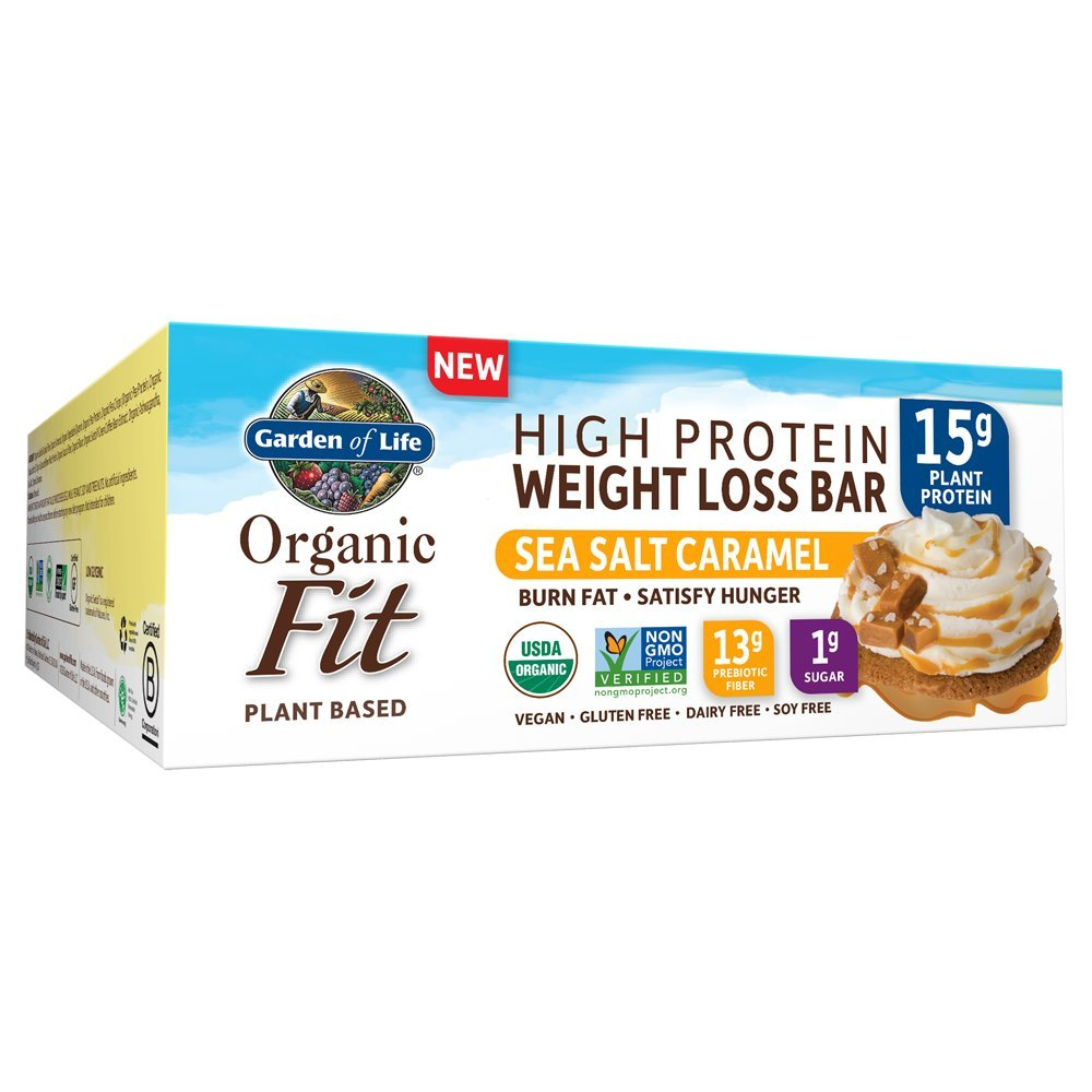 Amazoncom Garden of Life Organic Fit Bar Peanut Butter