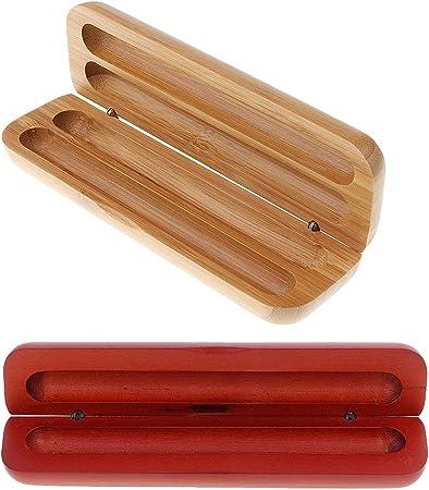 2 Unids de Sostenedor de Plumas Estilográficas Caja de Bambú Regalo Superior de Hombres: Amazon.es: Hogar