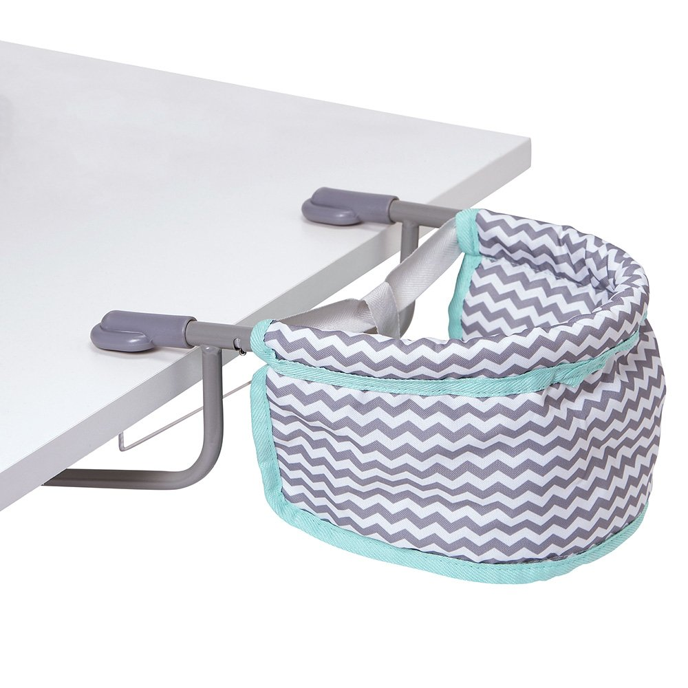 Adora Doll Accessories Portable Table Zig Zag Feeding Seat Gender Neutral Teal Pattern Design for Kids 3 years & up Charisma 217603