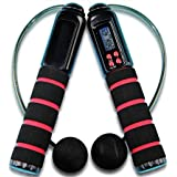 ECVISION Digital Outdoor and Indoor Wireless Cordless Diet Skipping Rope Jumping Rope With Digital LCD Screen Showing Time,Calorie And Jump Counter-Free Juming Rope Included.