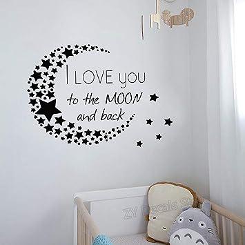 Te amo a la luna y a la parte posterior Tatuajes de pared Patrón ...