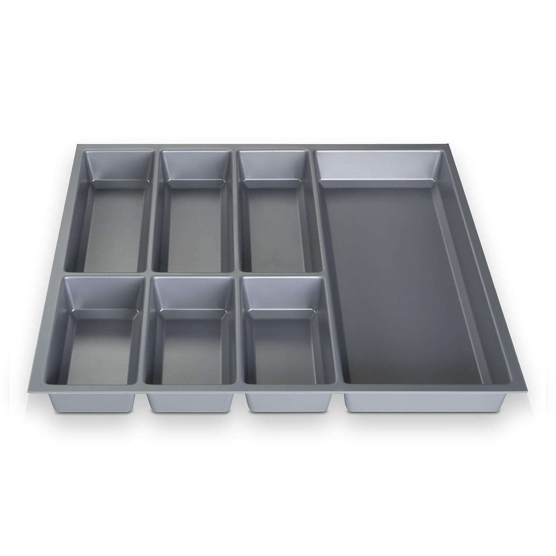 473,5 x 226 mm ORGA-BOX/® IV UNIVERSALE Portaposate da cassetto tagliabile argento grigio da 30