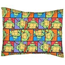 SheetWorld Crib / Toddler Percale Baby Pillow Case - Ninja Turtles Poses - Made In USA