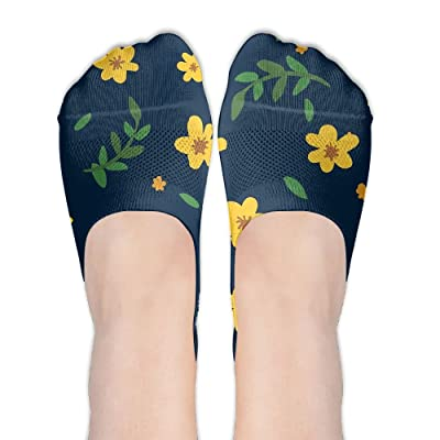 1Pair Womens DesignName Pattern Comfortable Low Cut Socks Girls No-show Liner Invisible Sock
