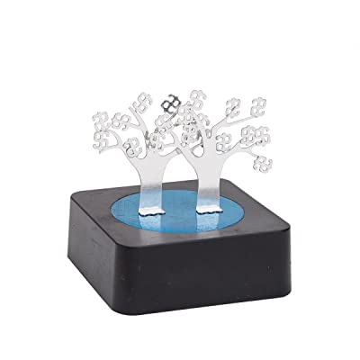 THY COLLECTIBLES Magnetic Sculpture Desk Toy for Intelligence Development Stress Relief Strong Magnet Base Solid Metal Pieces (Money Tree): Toys & Games