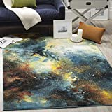 Cheap Safavieh Galaxy Collection GAL111B Abstract Watercolor Blue and Multi Area Rug (5′ x 8′)