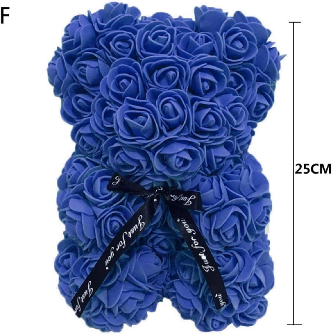 Ours en Forme dours de Rose Fait /à la Main avec des Fleurs artificielles Cadeau sp/écial Cadeau danniversaire