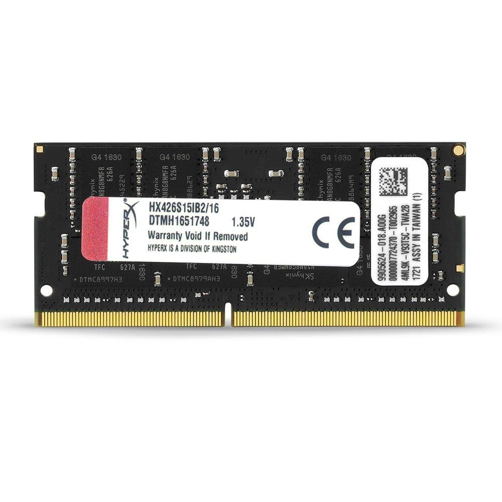 HX426S15IB2//16 Kingston Technology HyperX Impact 16GB 2666MHz DDR4 CL15 260-Pin SODIMM Laptop Memory