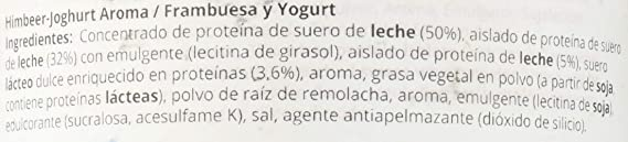 GymQueen Proteína de Whey - Proteína de Suero de Leche Concentrada e Aislada, Frambuesa y Yogurt, 500 gr