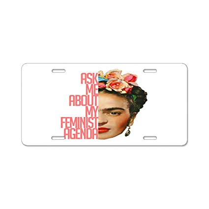 Amazon.com: Bchengquch License Plate frame - Frida Kahlo ...